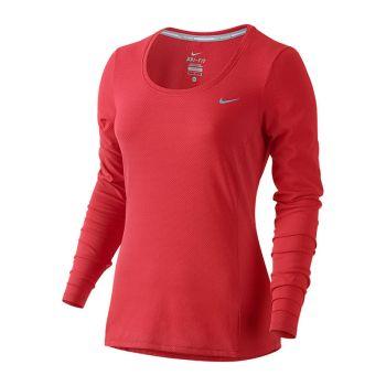 Nike Dri Fit Contour tröja röd dam