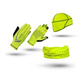 GripGrab Hi-Vis Run Essentials Giftbox