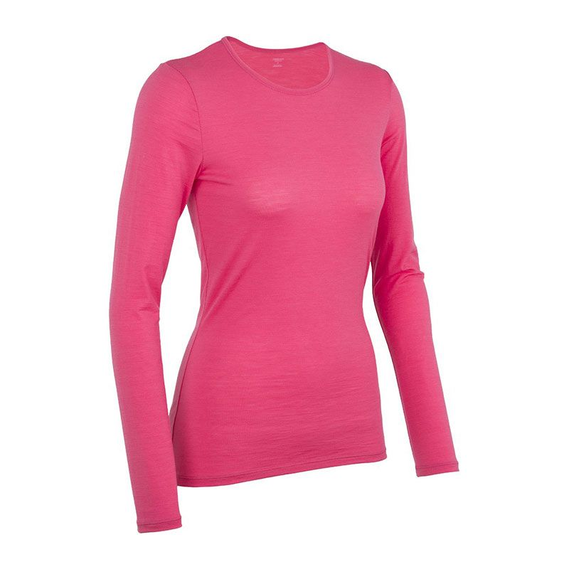 IceBreaker Siren LS tröja rosa dam