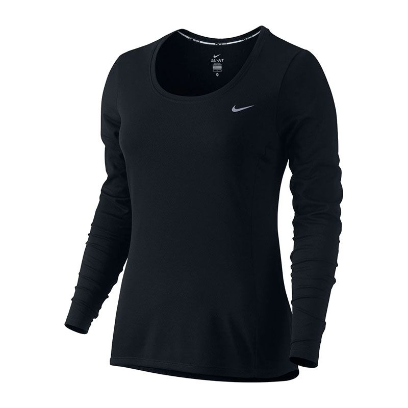 Nike Dri Fit Contour LS svart dam