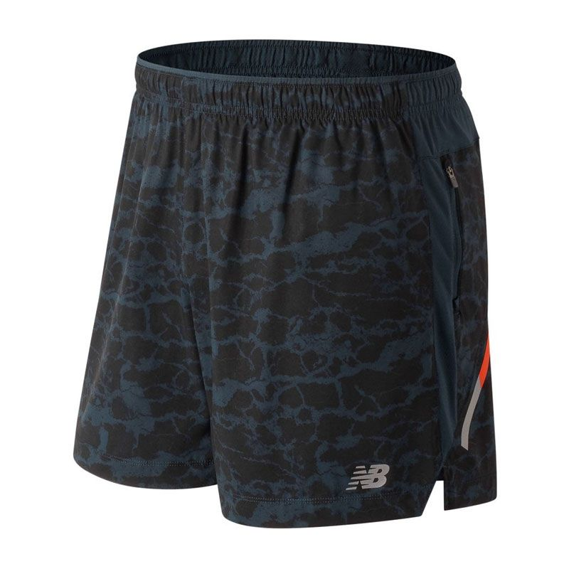 New Balance Printed impact short 5in herr