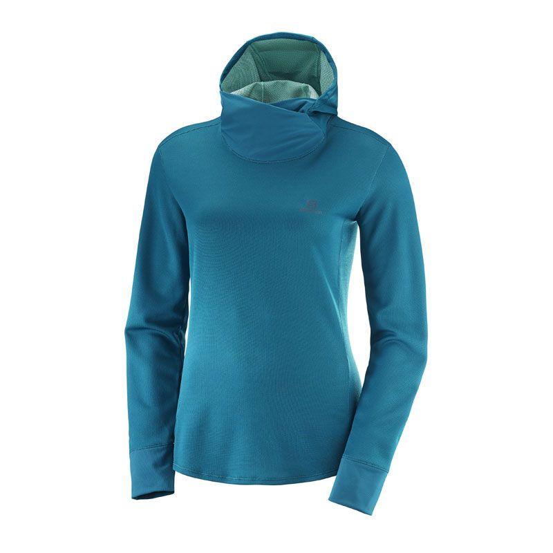 Salomon Agile LS hoodie dam