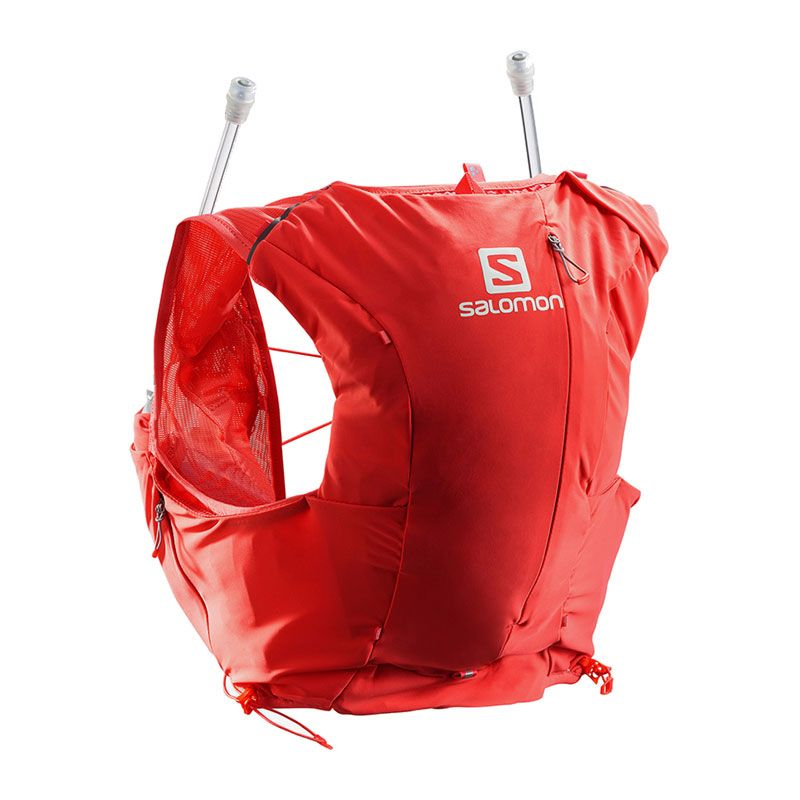 Salomon Adv Skin 8 set röd dam