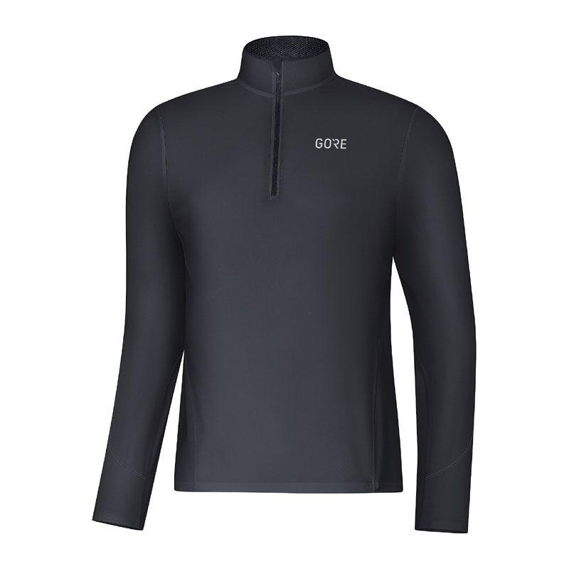 Gore R3 long sleeve Zip shirt herr