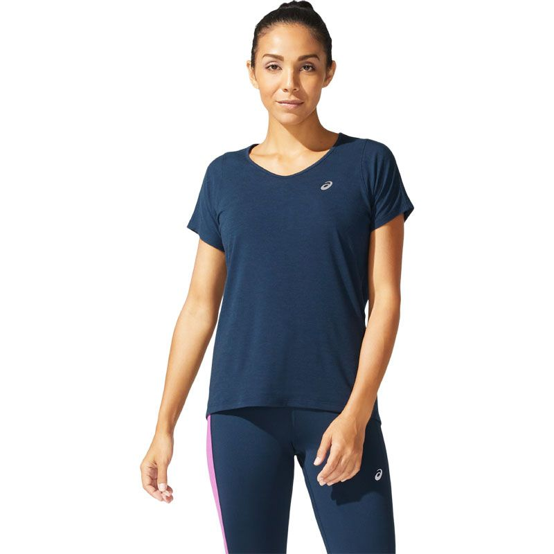 Asics V-Neck SS Top dam